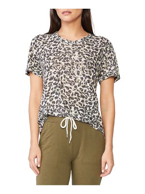 MONROW animal print girlfriend t-shirt