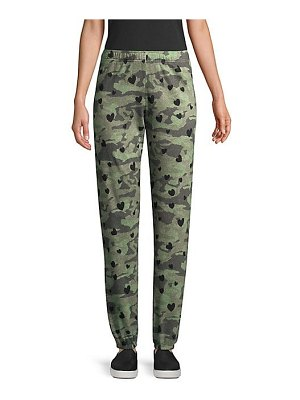 MONROW camo hearts sweatpants