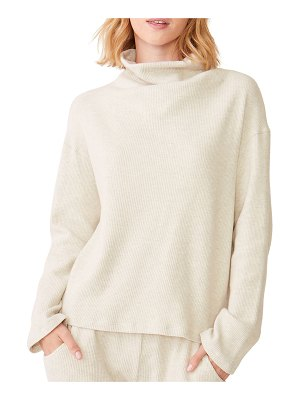 MONROW Cowl-Neck Long-Sleeve Pullover