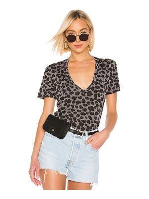 MONROW Leopard Relaxed V Tee