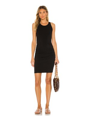 MONROW narrow tank shirred dress
