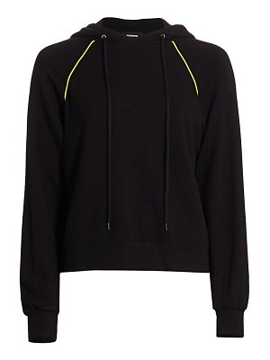 MONROW neon piped hoodie