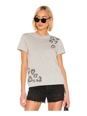 MONROW relaxed basic crew with oversized leopard print tee