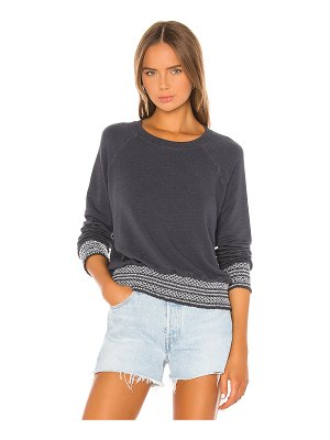 MONROW supersoft smocked waist raglan sweatshirt