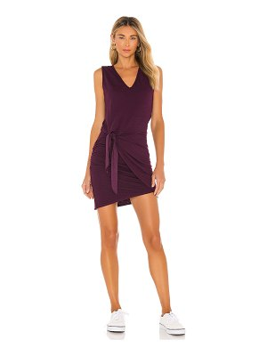 MONROW supersoft tank dress with tie