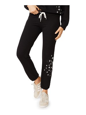 MONROW Vintage Drawstring Sweatpants with Faded Stars