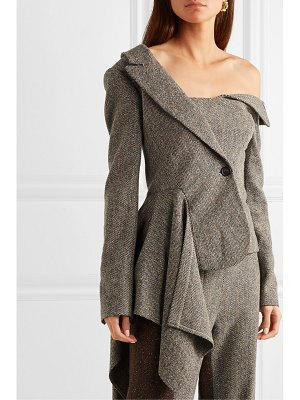 Monse asymmetric herringbone wool-blend blazer