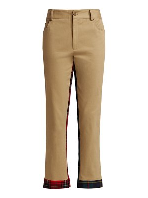 Monse mid-rise plaid half-and-half trousers