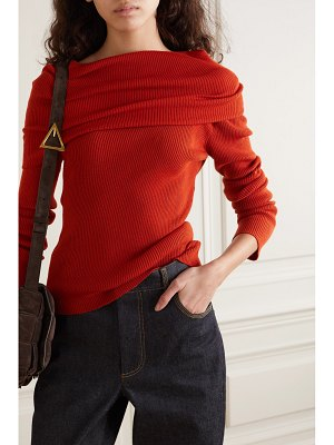 Monse off-the-shoulder ribbed wool-blend sweater