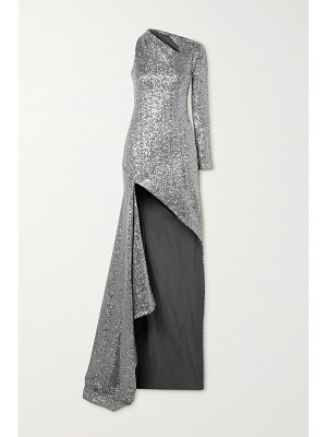 Monse one-shoulder cutout sequined tulle gown