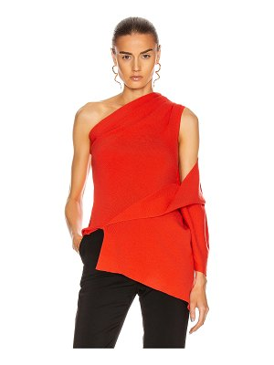 Monse one shoulder drape knit top