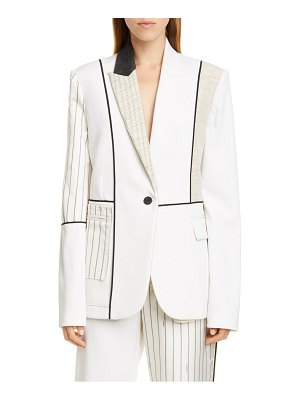 Monse patchwork stretch wool blazer