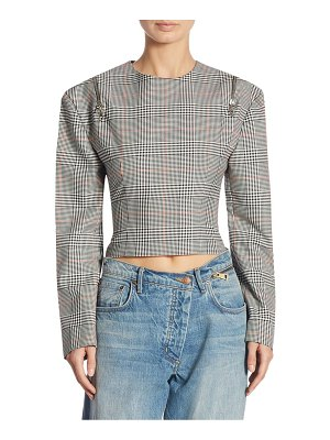 Monse Plaid Cropped Top
