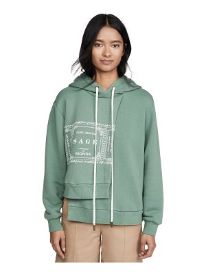 Monse sage double layer hoodie
