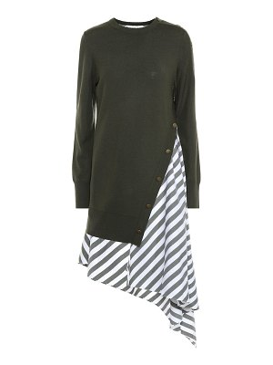 Monse striped wool and cotton dress