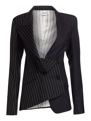 Monse two-tone pinstripe asymmetric blazer