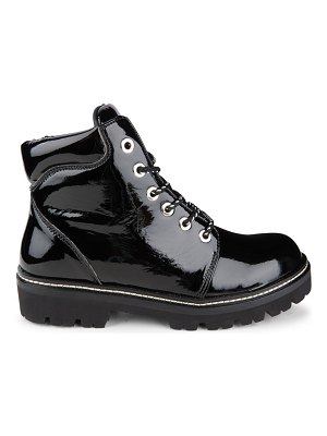 MONTELLIANA claudine patent leather hiking boots