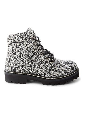 MONTELLIANA claudine tweed leather hiking boots