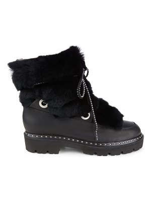 MONTELLIANA jolie rabbit fur-trim & shearling-lined leather boots