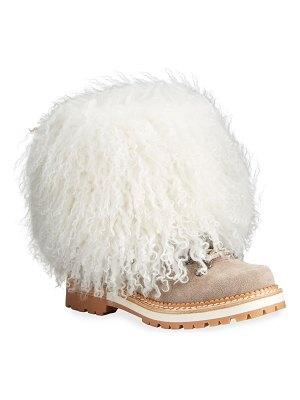 MONTELLIANA Seicento Shearling Hiking Boots