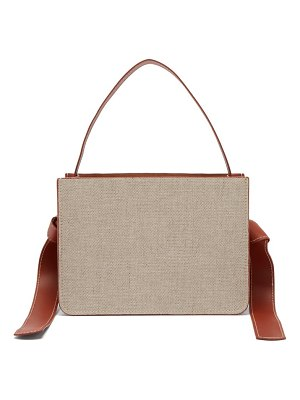 Montunas guaria linen & leather box bag