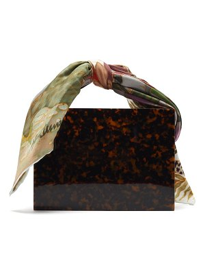 Montunas guaria mini tortoiseshell acetate box bag