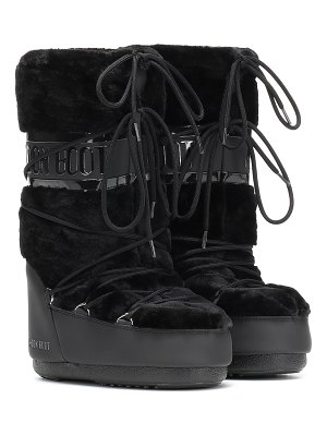 MOON BOOT classic faux fur-trimmed ankle boots