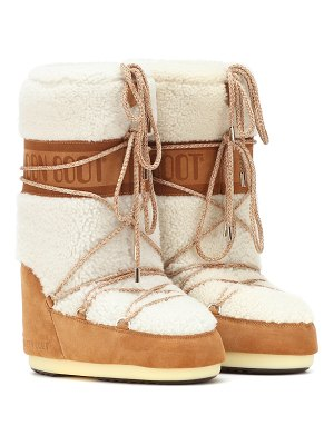MOON BOOT wool and suede boots