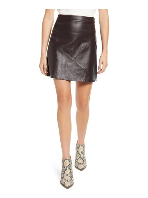 Moon River faux leather miniskirt