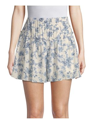 Moon River High-Waist Floral Shorts