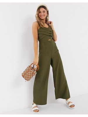 Moon River jumpsuit in olive-green