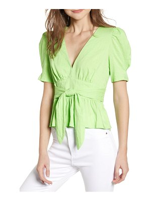 Moon River tie front peplum top
