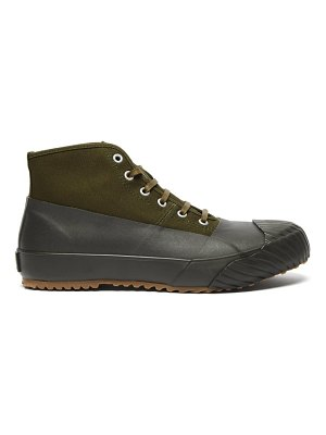 Moonstar alweather high-top canvas and rubber trainers