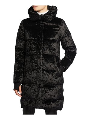 Moose Knuckles Alcester Crushed Velvet Puffer Jacket
