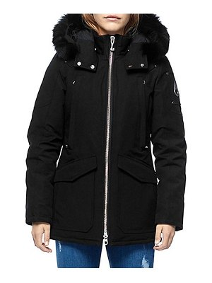 Moose Knuckles fire river down fox fur-trim parka