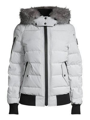 Moose Knuckles ladriere fox fur-trim quilted bomber