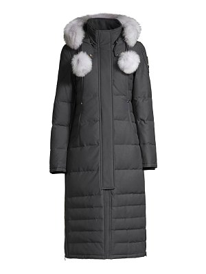 Moose Knuckles saskatchewan fox fur-trim hooded down parka