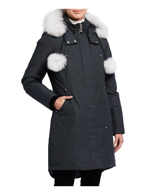 Moose Knuckles Stirling Hooded Parka Jacket w/ Fur Collar
