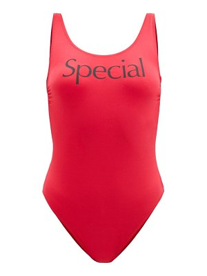 More Joy by Christopher Kane more joy special-print scoop-neck swimsuit