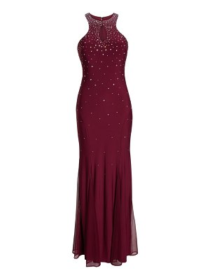 Morgan & Co. embellished keyhole trumpet gown