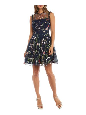 Morgan & Co. embroidered fit & flare dress