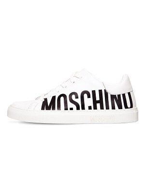 Moschino 20mm logo leather sneakers