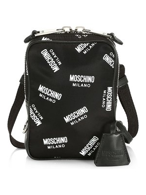 Moschino allover logo shoulder bag