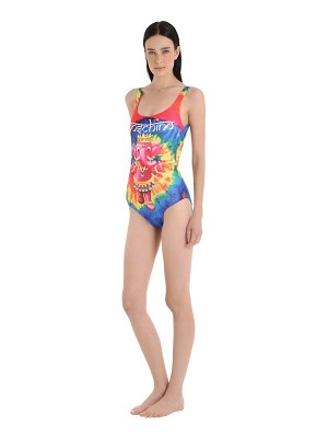 MOSCHINO BEACHWEAR Elephant tie dye lycra bathing suit