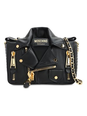 Moschino Biker leather shoulder bag