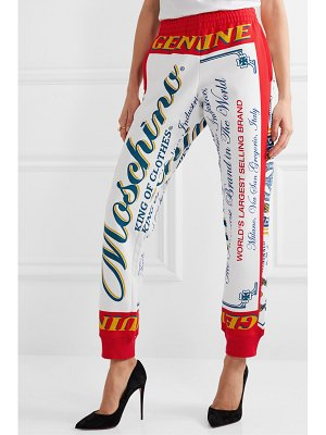 Moschino budweiser printed cotton-jersey track pants