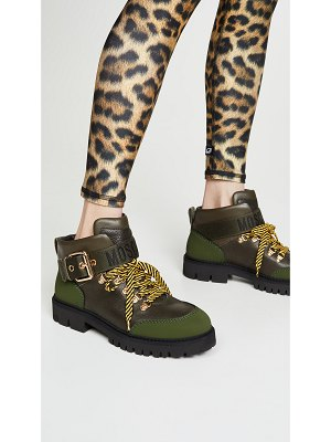 Moschino combat ankle boots