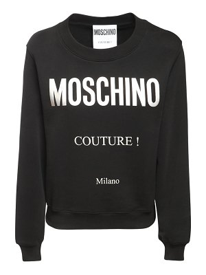Moschino Couture logo cotton jersey sweatshirt