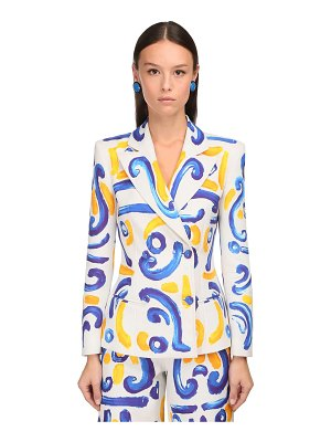 Moschino Double breasted printed duchesse jacket