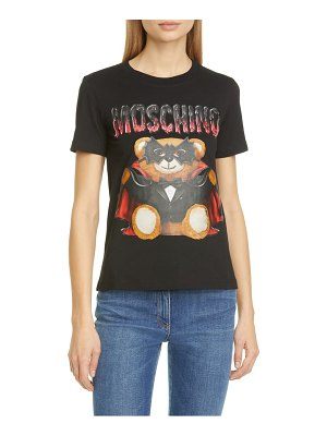 Moschino dracula teddy bear graphic tee